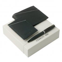 SPRING. Kit carteira, porta cartões e esferográfica