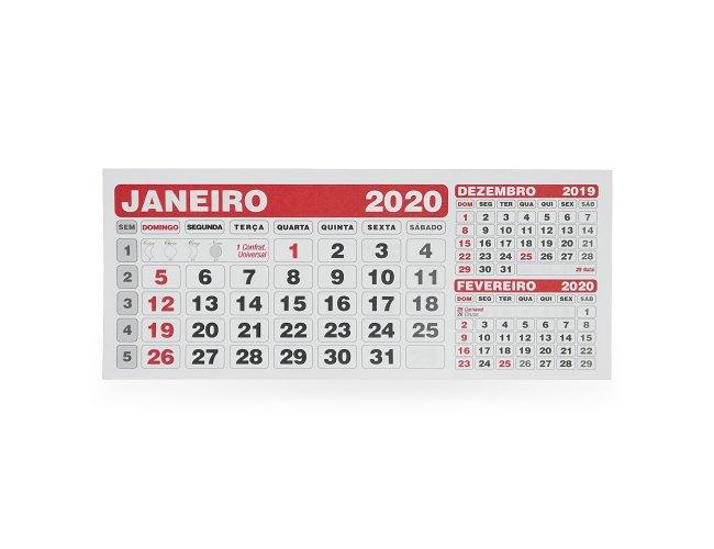Folhinha Calendário 2020